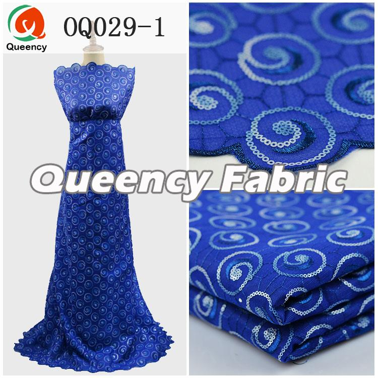 Sequins Organza Lace Royal Blue
