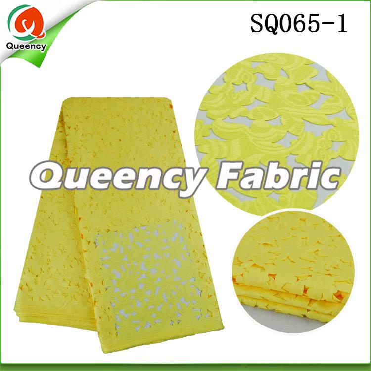 Yellow Laser Cotton Lace
