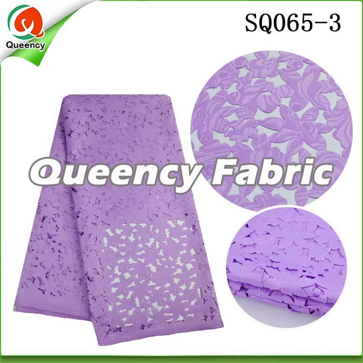 Lilac Laser Lace Material