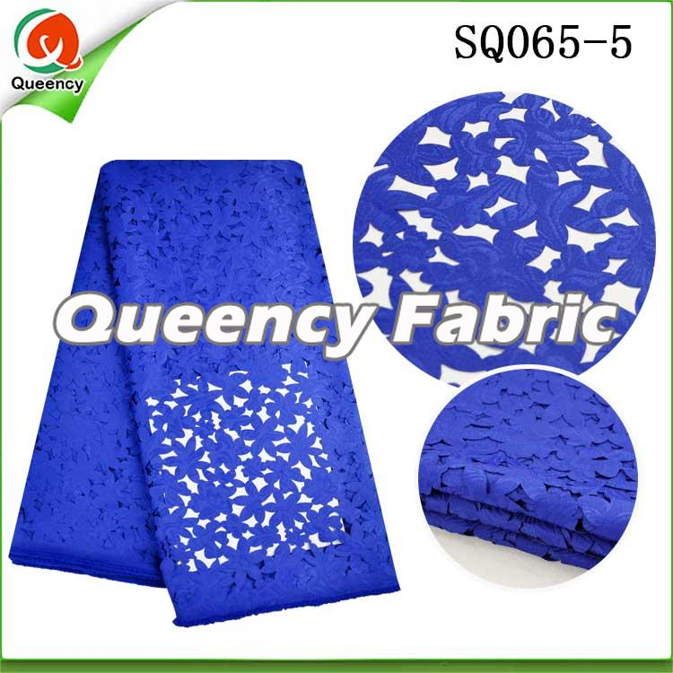 Royal Blue Lace Laser Fabric