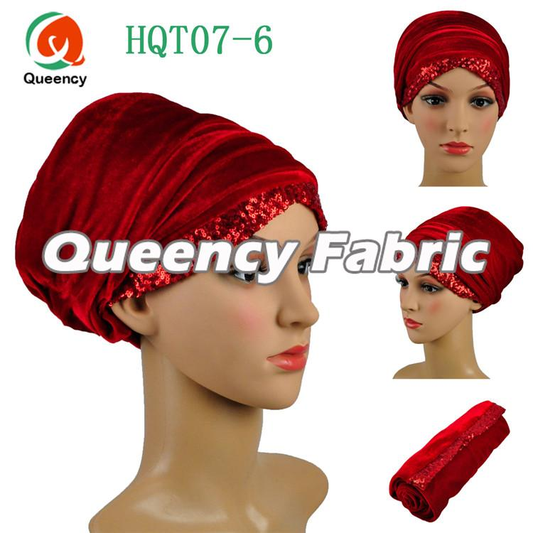 Red Hijab Muslim Turban