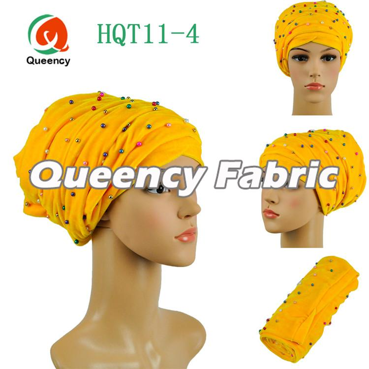 Yellow Nigeria Wedding Turbans