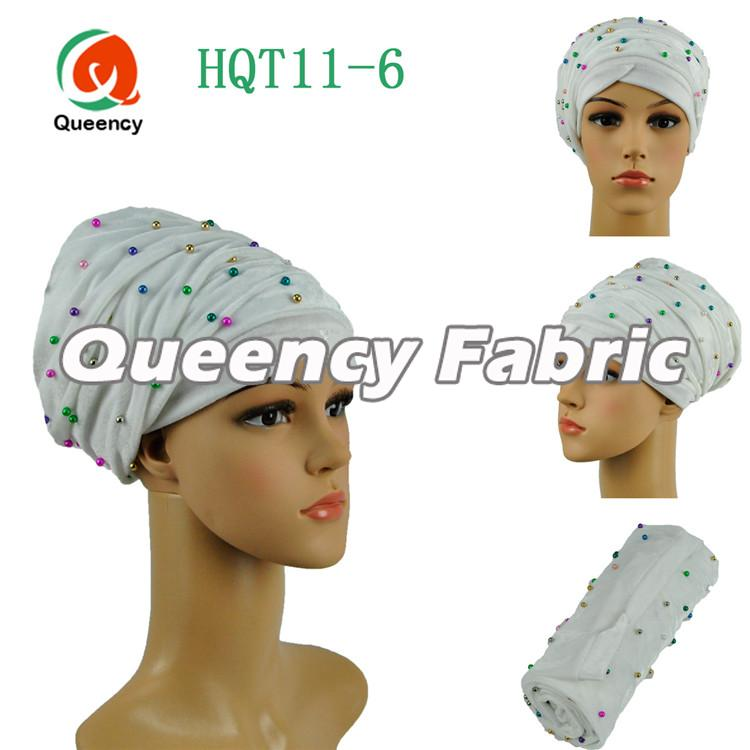 White Headtie Turban Wrapper