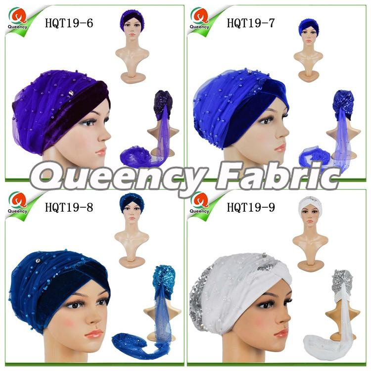 Adult Turbans Beaded Velvet