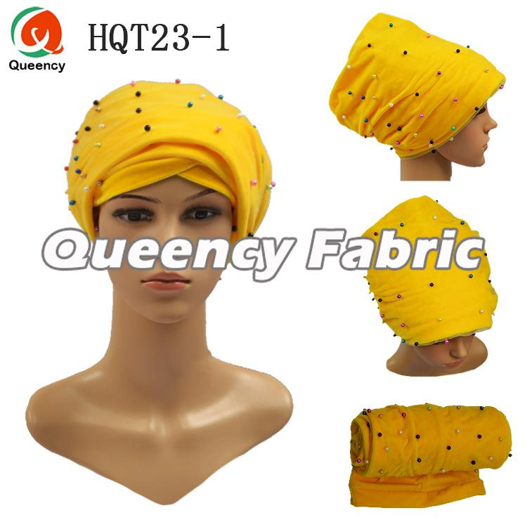 Colorful Beaded Velvet Turban