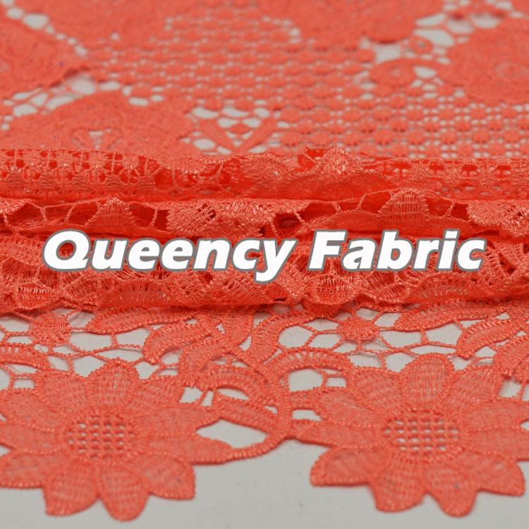 Chantilly Water Soluble Peach Lace Fabric