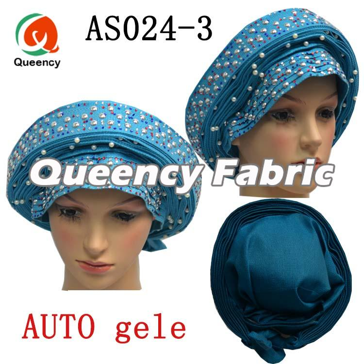Auto Gele Beaded Headtie