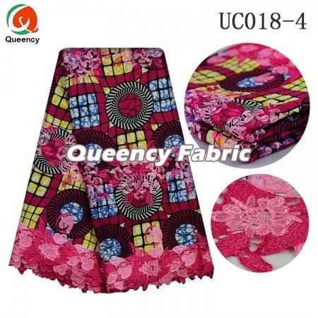 Nigeria Wax Lace Chantilly Colorful Material