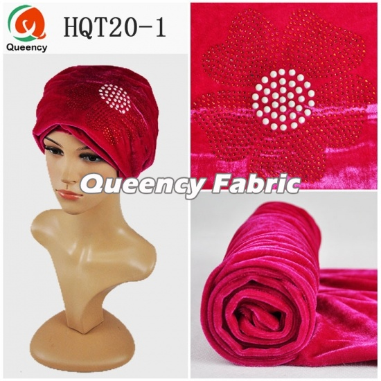 Bonnet Hat Wedding Velvet Muslim Turbans Stones